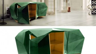 Boca Do Lobo limited-edition Diamond sideboard colored in green emerald will make a splash in interior design