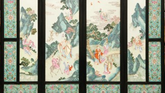 Chinese porcelain screen brings $126,900 at the Elite Decorative Arts auction