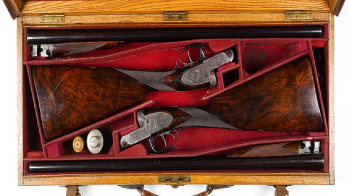 Antique pair of guns by J. Purdey & Sons from 1930 up for auction