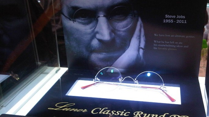 The Glasses that Steve Jobs wore