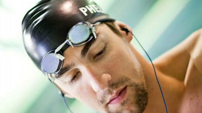 Michael Phelps loves listening to music and since he devotes a lot of time to swimming, he relies on his Interval-Waterproof Headphone System