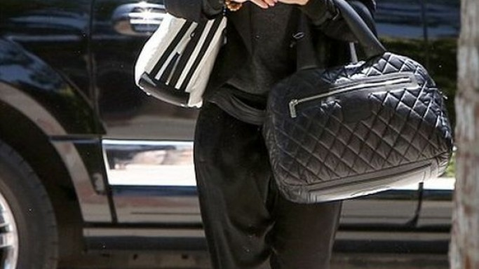 The American celebrity was spotted carrying the Bowling Bag during her visit to Toluca Lake in California.