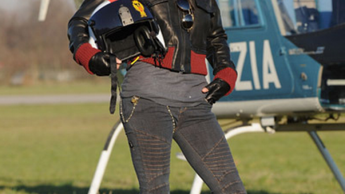 The actress was spotted wearing these leggings while boarding a helicopter.