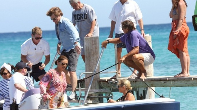 Catherine Zeta Jones was seen holidaying with her husband, Michael Douglas, and friend, Jon Bon Jovi