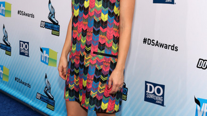 "Kirsten was spotted wearing this multicolored Dress to the ""Do Something"" awards in August 2012."