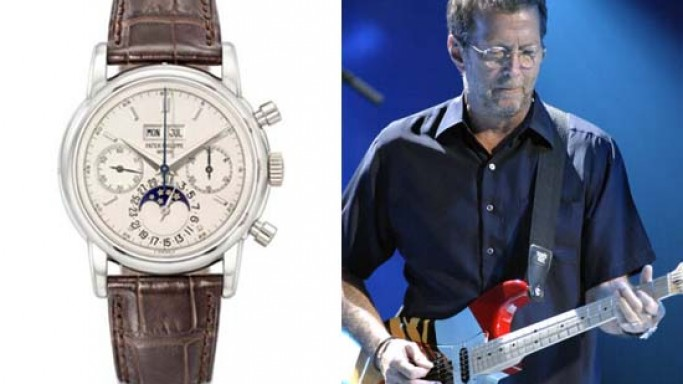 Eric Clapton's platinum-cased Patek Philippe 2499 watch to auction