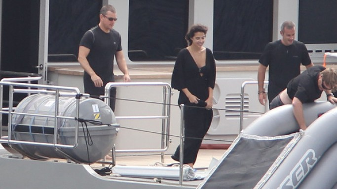 Matt Damon on vacation in St Barts
