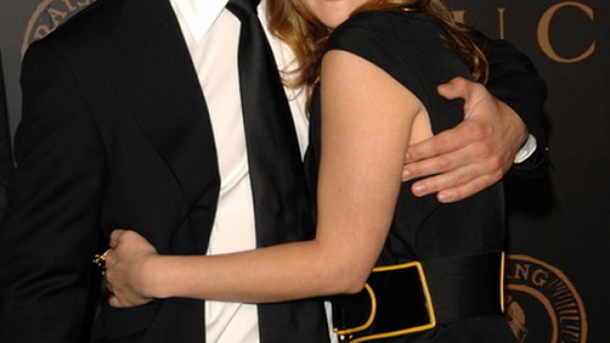 Justin Long with Drew Barrymore at UNICEF event