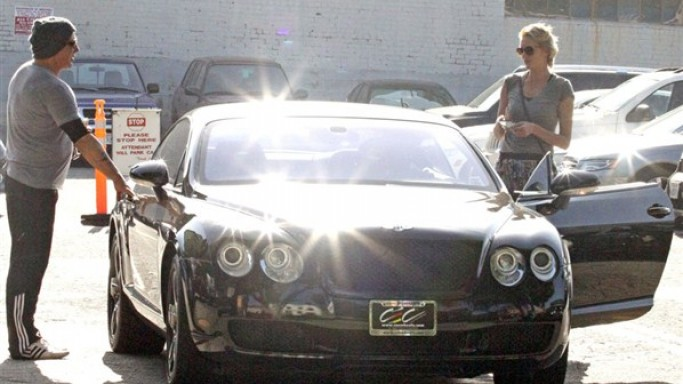 Mickey Rourke drives Bentley Continental GT