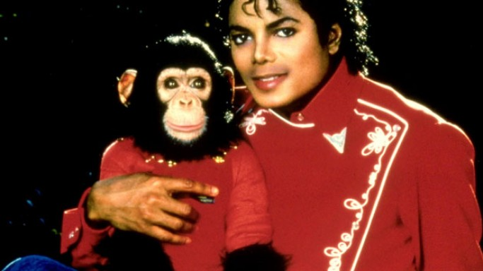 Michael Jackson and his chimp, Bubbles