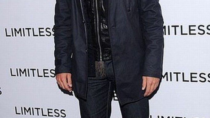 Bradley wears Diesel Leide Leather Biker Jacket