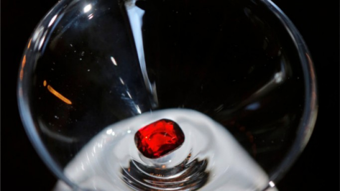 $40,000 Ruby Rose cocktail is topped with a 4-carat ruby