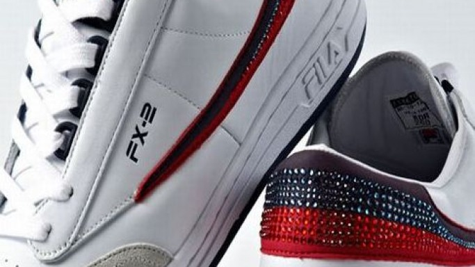 Swarovski studded FILA sports shoes