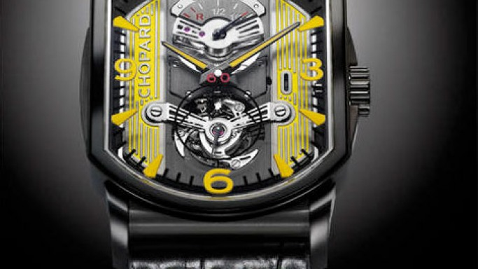 The L.U.C Engine One Tourbillon by Chopard is designed to look like an engine block