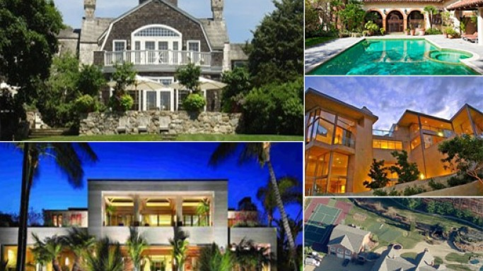 Luxurious celebrity homes for sale