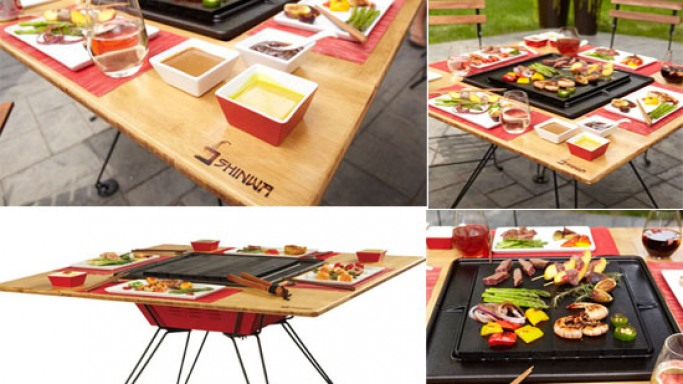 The Shinwa Grill blends a grill and a table