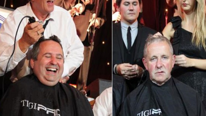 Most expensive haircut for guests at the Paul Strank Roofing charity event