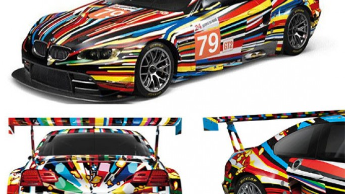 BMW M3 GT2 Art Car revisioned as 1:18 scale model by Jeff Koons