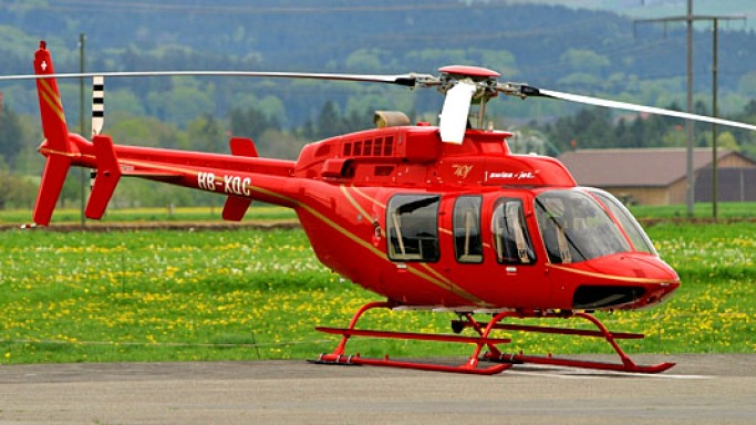 Bell 407 car - Color: Red  // Description: graceful