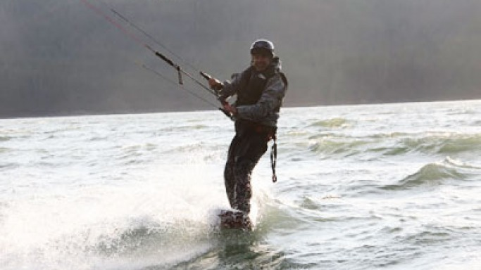 Kite boarding in Alaska