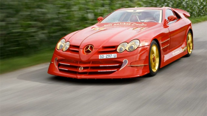 Red Gold Dream Mercedes-McLaren SLR up for sale for an asking price of $11 million