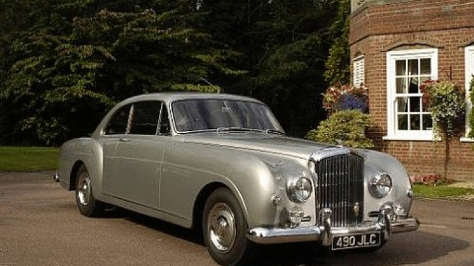 1956 Bentley S1 Continental car - Color: Silver  // Description: vintage