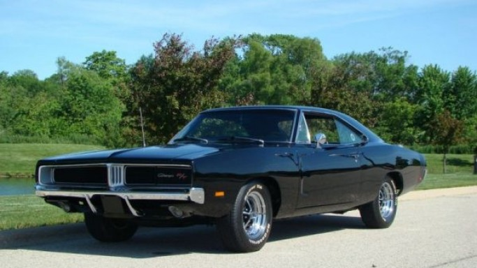 1969 Dodge Charger car - Color: Black  // Description: graceful