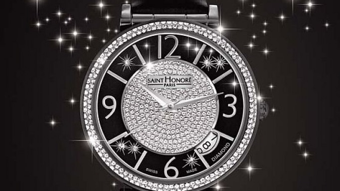 Saint Honore Opera ladies watch collection gets a diamond studded Black Eclair effect