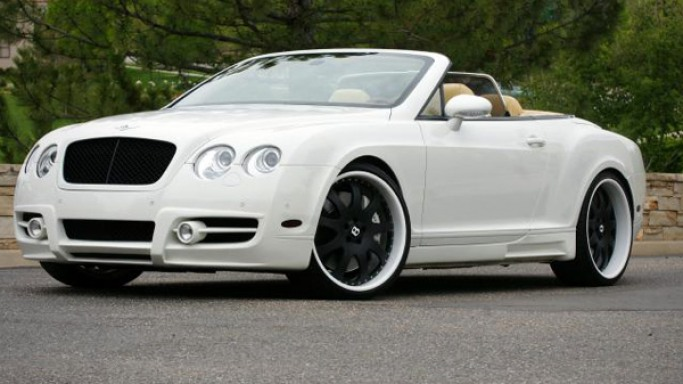 Bentley Continental GTC car - Color: White  // Description: exclusive