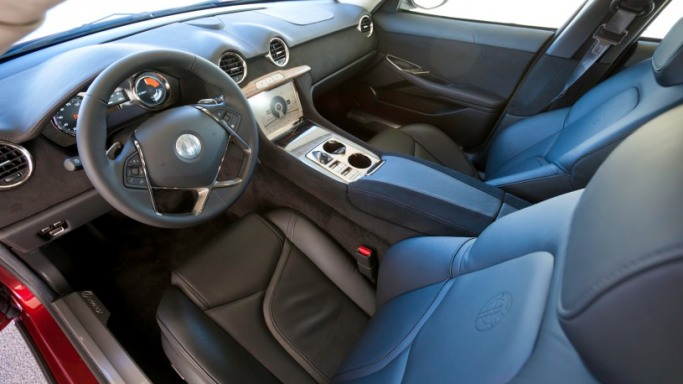 Interior of his car