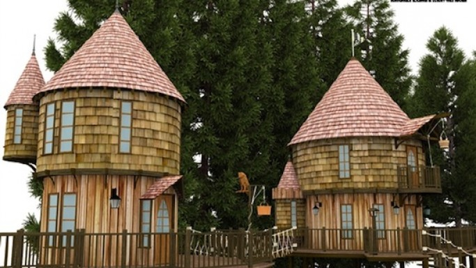 J.K.Rowling plans 40-foot tree houses for her kids