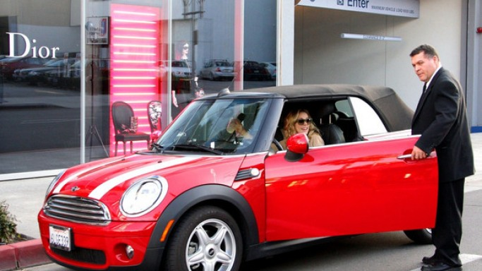 photo of Rachel McAdams Mini Cooper - car