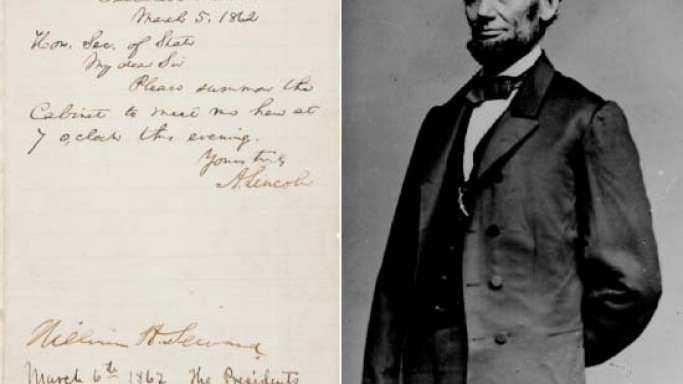 $150,000 expected for Abraham Lincoln's letter showing his attempts at compensated emancipation