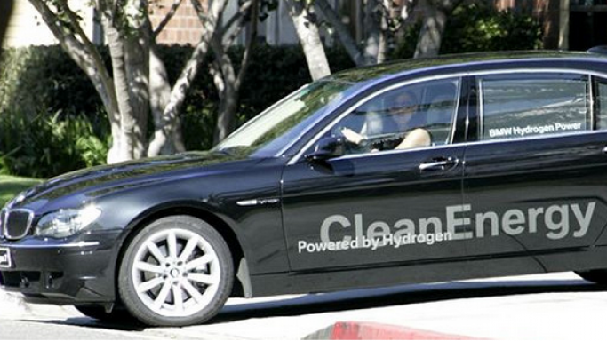 The Hollywood star recently bought a BMW Hydrogen 7 car.