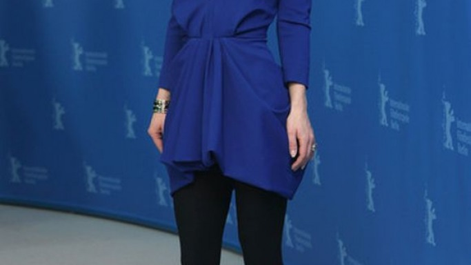 Cristina Ricci wears Thakoon Fall 2011 RTW V-Neck Dress