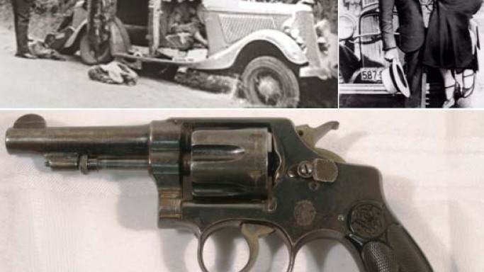 Bonnie and Clyde's Smith & Wesson Revolver founded in perforated Ford V8 after their deaths is up for grabs