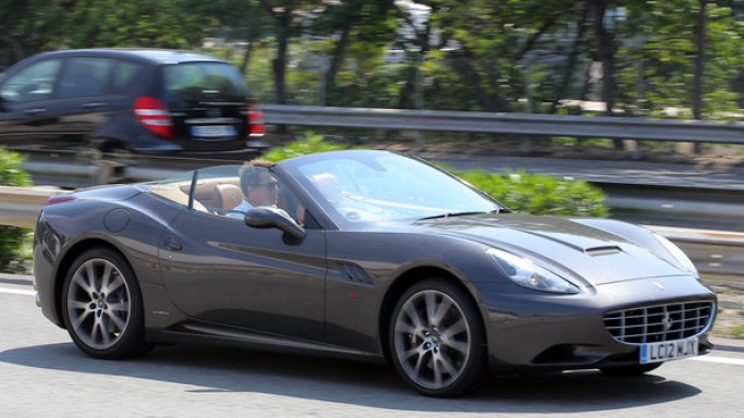 Ferrari California car - Color: Gray  // Description: costly