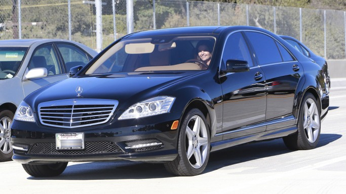 Maria Shriver drives Mercedes Benz S Class