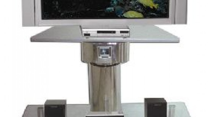 Chrome Robot TV Stand