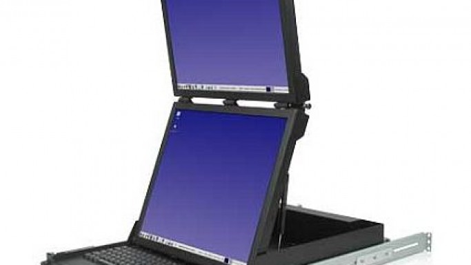 World's first dual 19-inch LCD in a vertical format