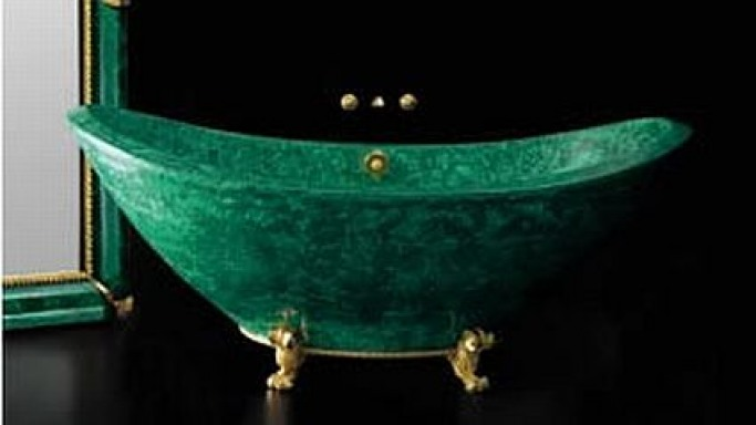 Teti Malachite Baldi Bath Tub – Insanely expensive!