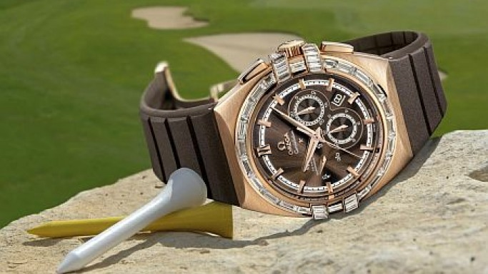 Omega's Double Eagle Co-Axial Chronographs for the golfers
