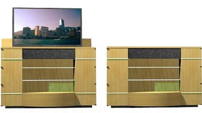 Auto-Rising TV Cabinet with built-in Yamaha YSP1000 Speakers