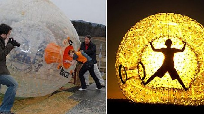 Zorb: A blend of adventurous and playful Kiwi spirit
