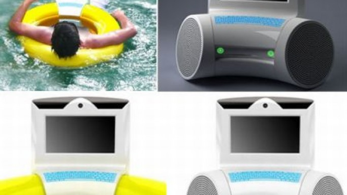 PC of the Swim-Rings : Amphibious PC for the swimmers