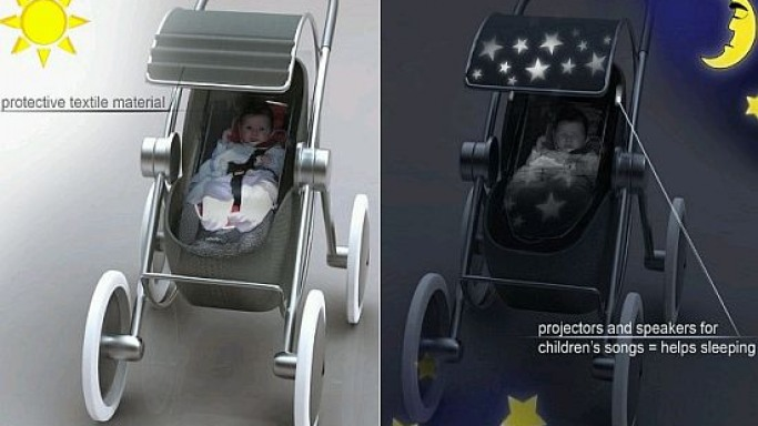 Concept Baby Stroller ensures your baby is entertained