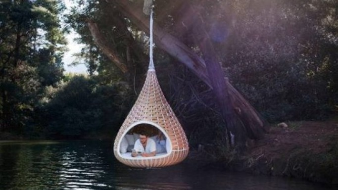 Suspended sanctuary – Nestrest hanging lounger by Dedon