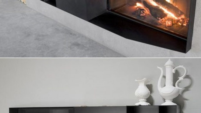 Mario Ferrarini's modular fireplace is not a seasonal thing
