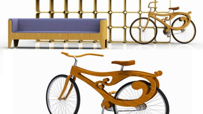 The art nouveau-styled wooden bike: Reinventing the wheel