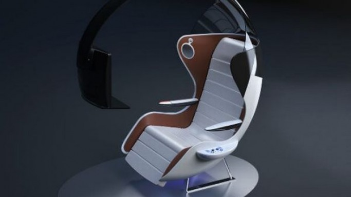 Get ready to game at 35,000 feet with the futuristic NFW airline seat